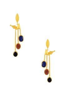 gold-plated-danglers-with-multi-colored-stones