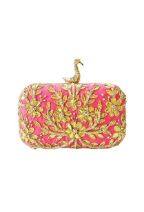 candy-pink-embroidered-clutch-with-a-swan-clasp