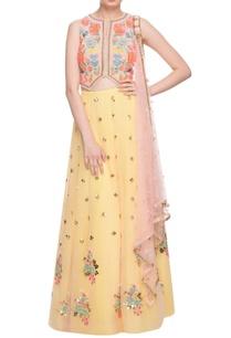 peach-pastel-yellow-embellished-lehenga-set