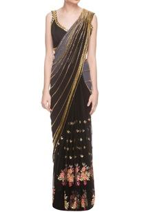 black-embellished-sari-blouse