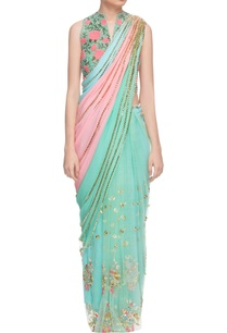 multi-colored-sari-with-sea-green-jacket-choli