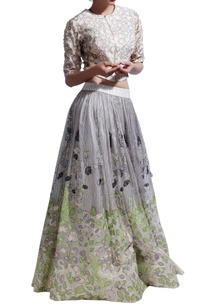 grey-petal-embroidered-skirt