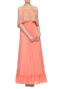 salmon-pink-embroidered-gown