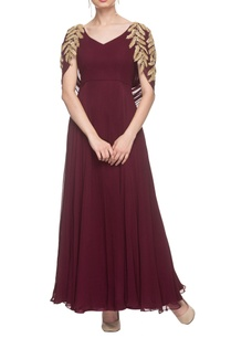 wine-gown-with-drape-detailing