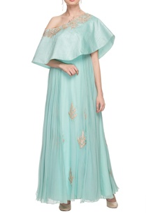 pastel-blue-off-shoulder-embroidered-gown