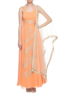 orange-embroidered-gown-with-dupatta