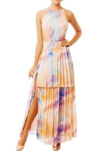 multi-colored-gown-with-high-slit