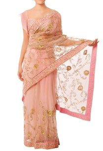 baby-pink-gold-embroidered-sari
