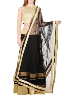 black-gold-lehenga-set-with-velvet-detailing