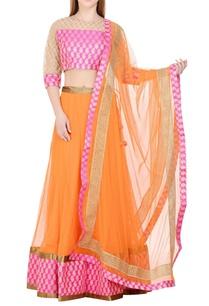 orange-pink-lehenga-set-with-brocade-work