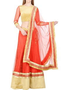 red-gold-lehenga-set-with-border-detailing