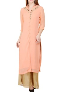 peach-gold-embroidered-kurta-with-palazzos