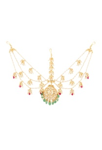 gold-plated-mathapatti-with-semi-precious-stones-pearls