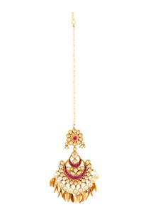 gold-plated-chaandtika-with-semi-precious-stones-pearls