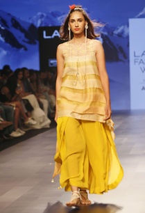 yellow-striped-asymmetric-tunic-with-palazzos