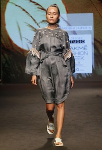 grey-satin-linen-dress-with-fringes