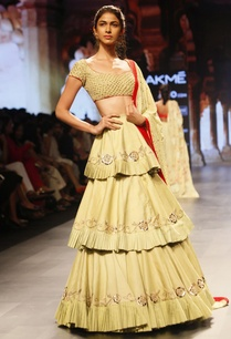 pale-yellow-embroidered-ruffled-lehenga-set