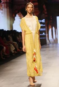 white-yellow-floor-length-organic-cotton-dress