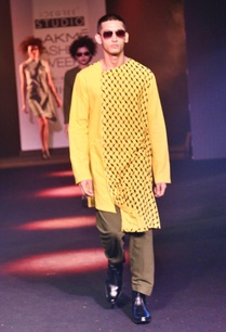yellow-printed-asymmetric-kurta