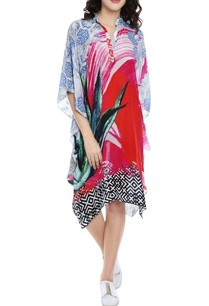 multi-colored-printed-kaftan-dress