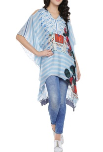 baby-blue-white-striped-high-low-kaftan-top