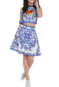 white-blue-digital-print-crop-top-skirt