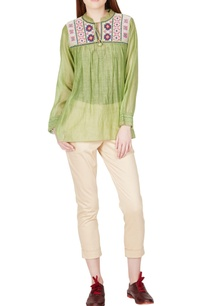 green-thread-embroidered-top