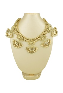 gold-statement-necklace-with-spiked-semi-circles