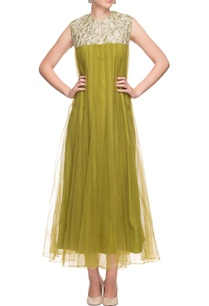 olive-green-dress-with-thread-embroidery