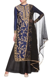 black-and-blue-embroidered-kurta-and-palazzo-set