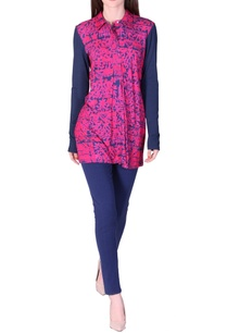 fuschia-navy-floral-printed-tunic
