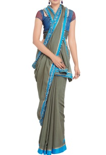 grey-sari-with-multi-colored-embroidered-blouse
