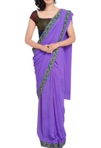 lavender-sari-multi-colored-kalamkari-blouse