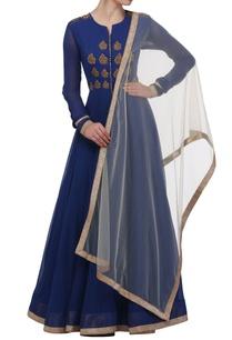 cobalt-blue-anarkali-dress-with-dupatta