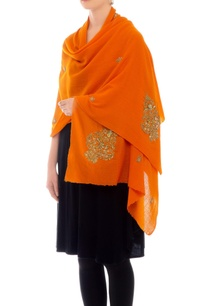 orange-embroidered-cashmere-stole