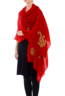 scarlet-red-gota-work-cashmere-stole