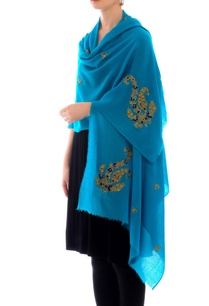 turquoise-embroidered-cashmere-stole