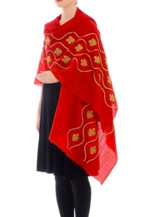 red-embroidered-cashmere-stole