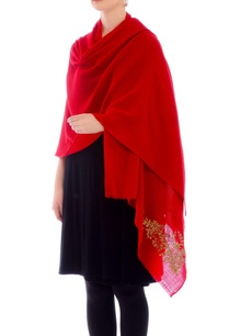 cherry-red-gota-work-cashmere-stole