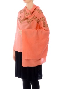 peach-sequin-work-cashmere-stole