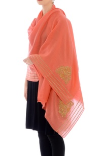 peach-embroidered-cashmere-stole
