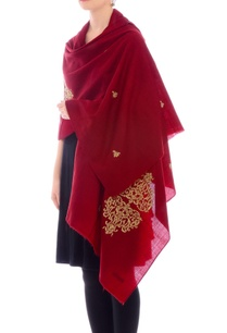 maroon-embroidered-cashmere-stole