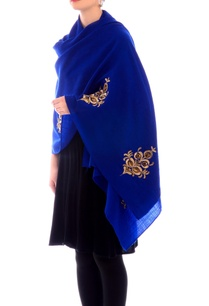 midnight-blue-embroidered-stole