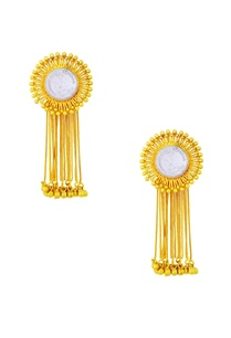 gold-plated-danglers-with-vintage-coin-tassels