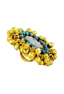 gold-plated-ring-with-ghungroos-semi-precious-stones
