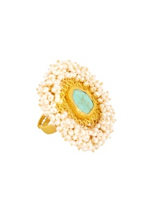 gold-plated-ring-with-turquoise-stone-filigree-cutwork