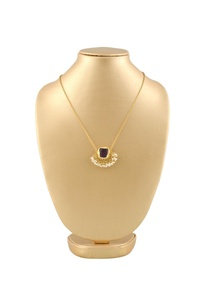 gold-plated-necklace-with-purple-semi-precious-stone