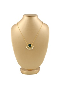 gold-plated-necklace-with-grey-semi-precious-stone