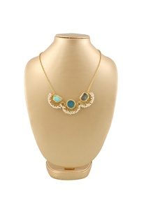 gold-plated-statement-necklace-with-semi-precious-stone