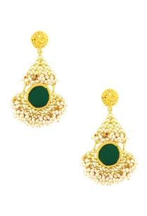 gold-plated-danglers-with-green-onyx